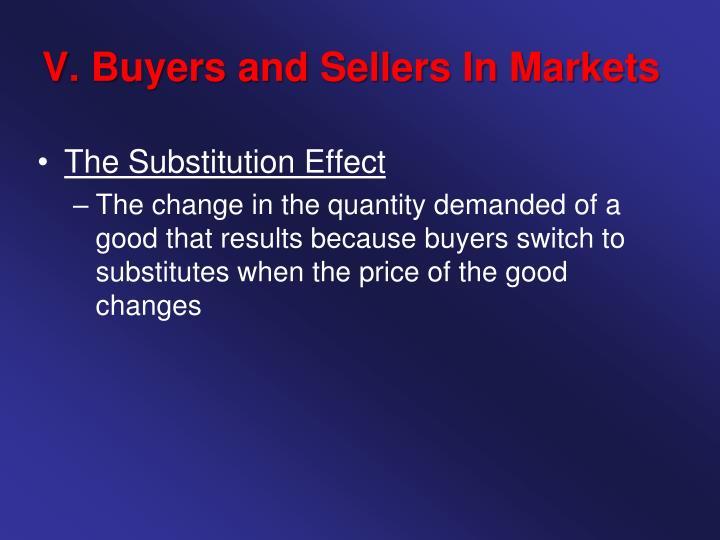 V. Buyers