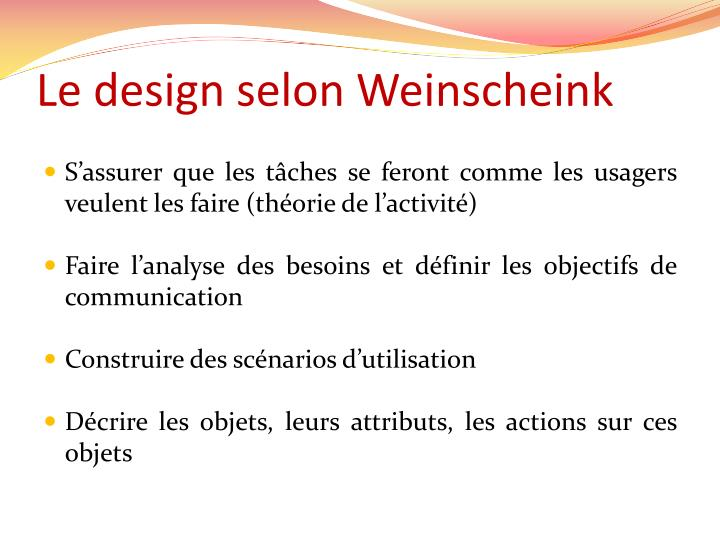 Le design selon