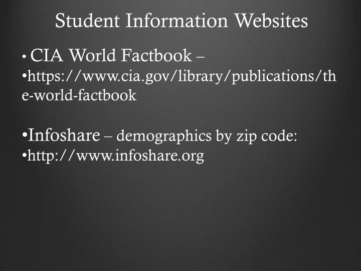 Student Information Websites