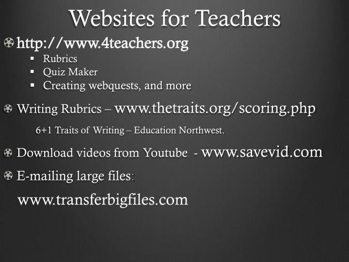 Websites for Teachers
