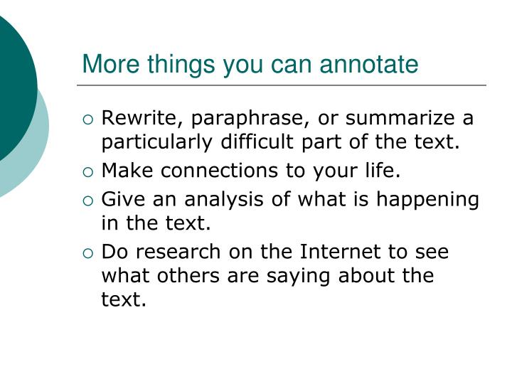 More things you can annotate