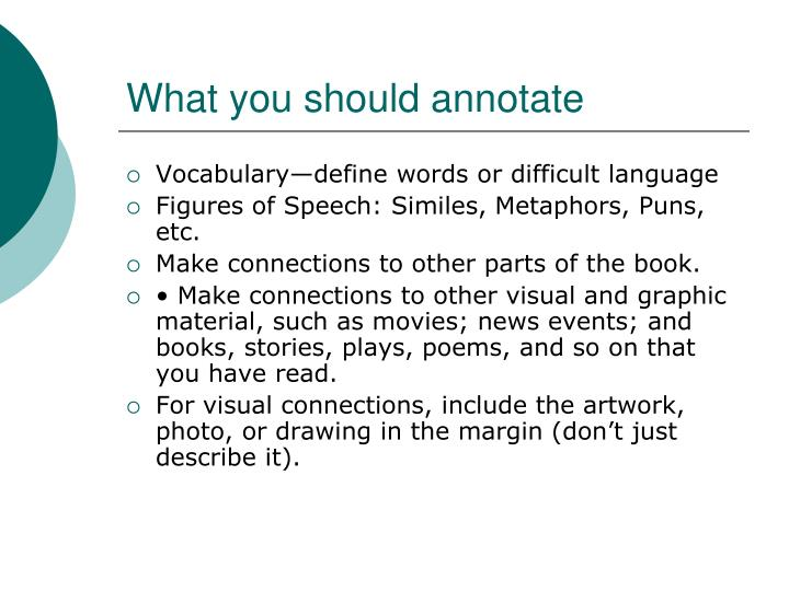 What you should annotate