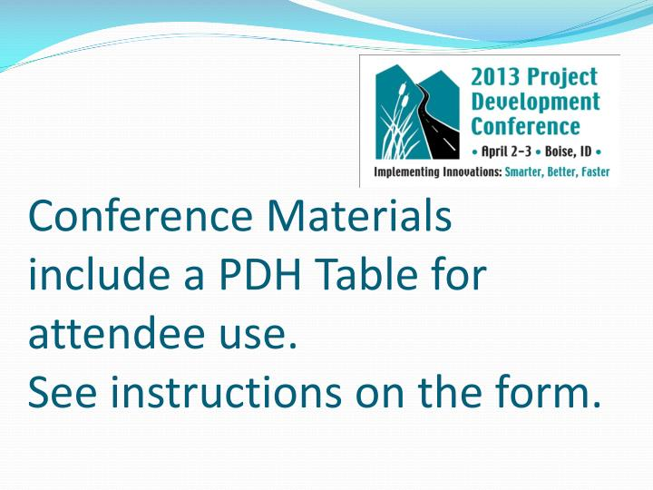 Conference Materials