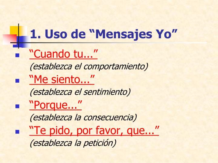 """1. Uso de """"Mensajes Yo"""""""