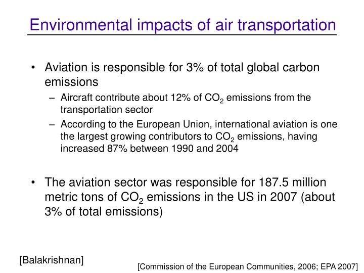 Environmental impacts of air transportation