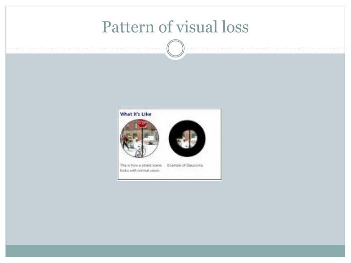 Pattern of visual loss