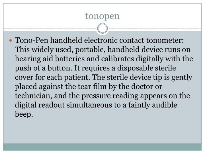 tonopen
