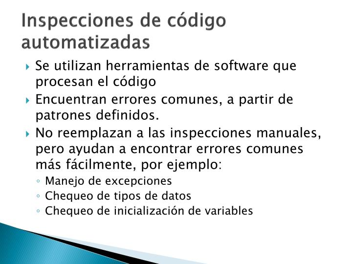 Inspecciones de código automatizadas