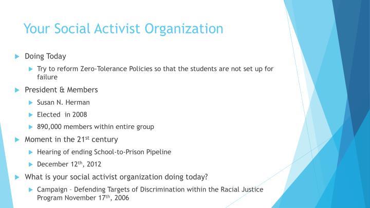 Your Social Activist Organization