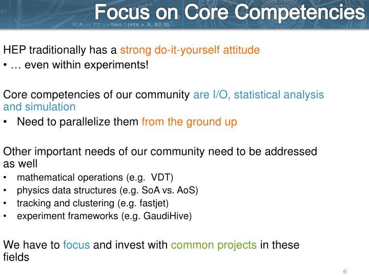 Focus on Core Competencies