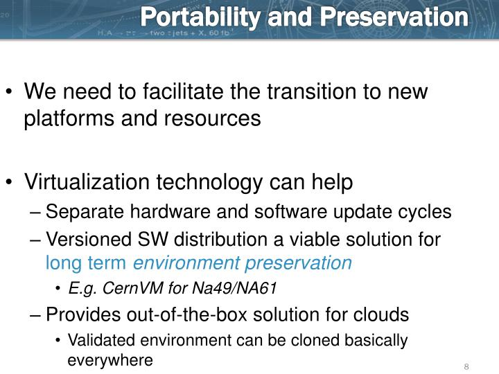 Portability and Preservation