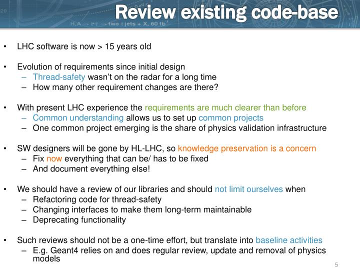Review existing code-base