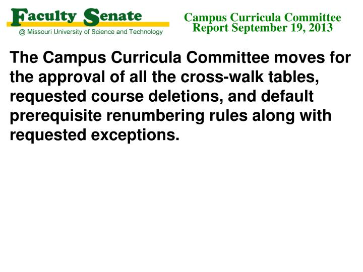 Campus Curricula Committee