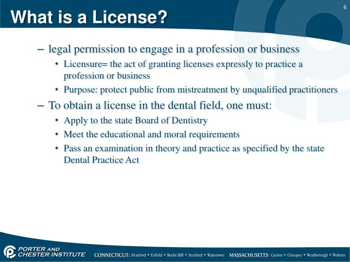 What is a License?