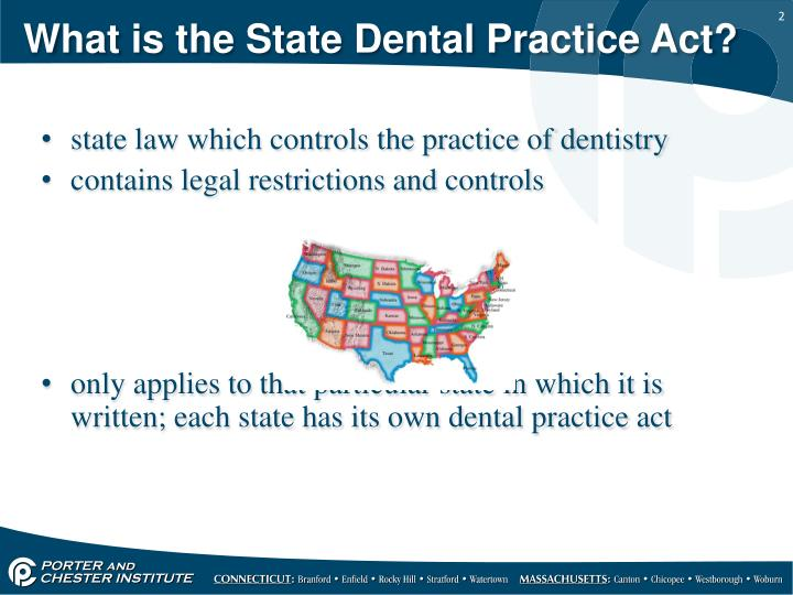What is the state dental practice act