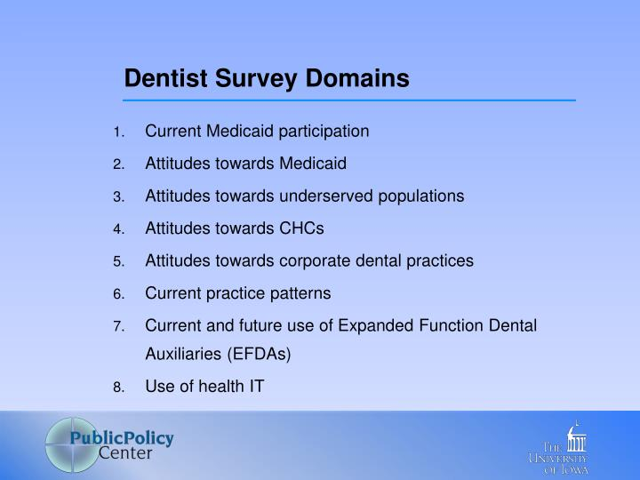 Dentist Survey Domains