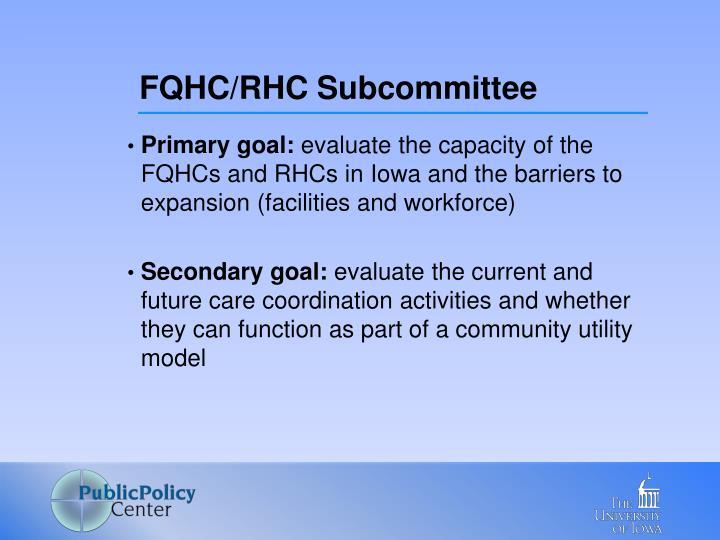 FQHC/RHC Subcommittee