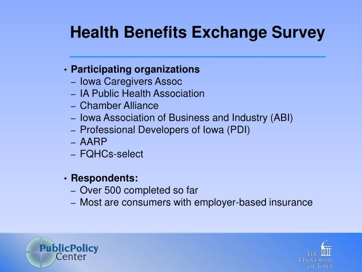 Health Benefits Exchange Survey