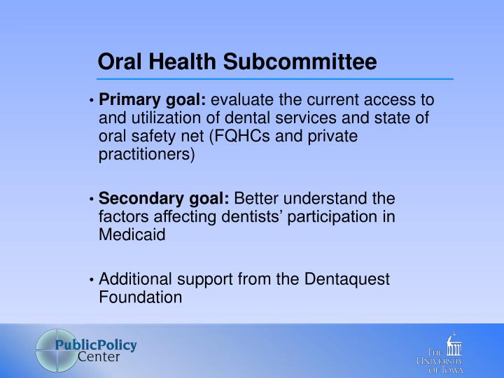Oral Health Subcommittee