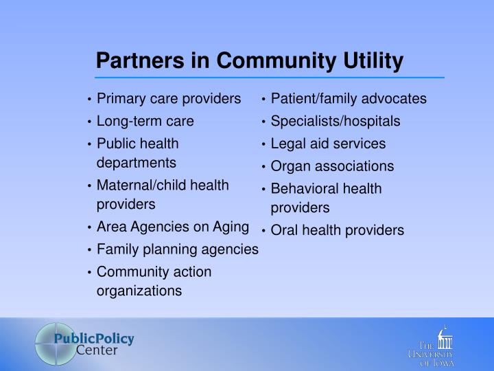 Partners in Community Utility