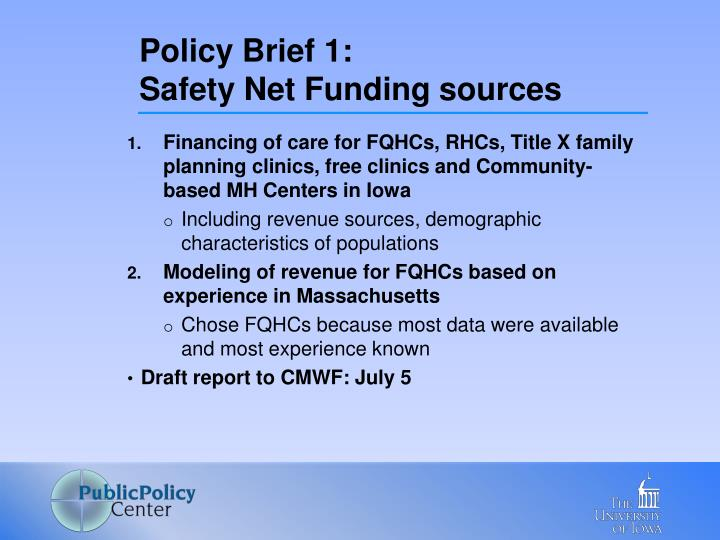 Policy Brief 1: