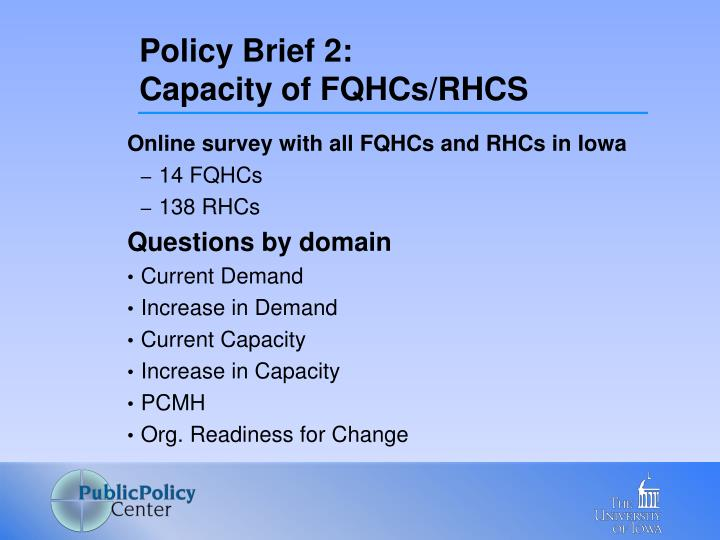 Policy Brief 2: