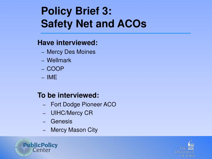 Policy Brief 3: