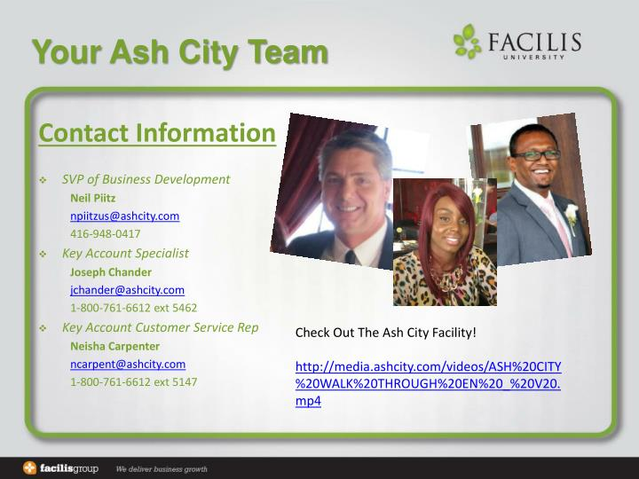 Your Ash City Team