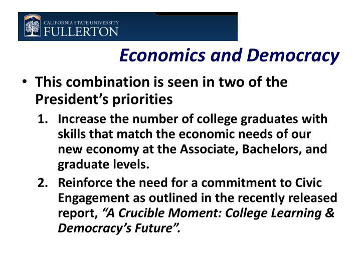 Economics and Democracy