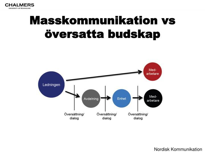 Masskommunikation vs översatta budskap