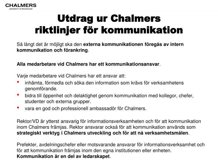 Utdrag ur Chalmers