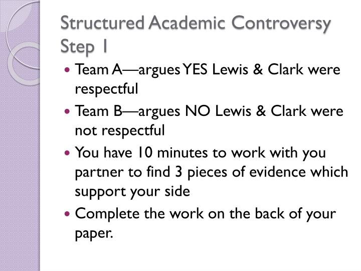 Structured Academic Controversy Step 1