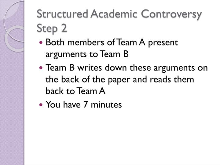 Structured Academic Controversy Step 2