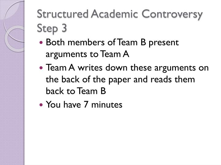 Structured Academic Controversy Step 3