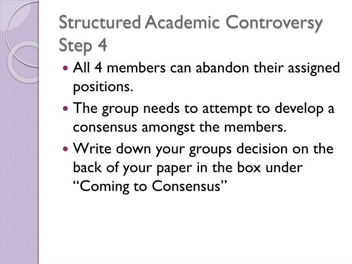 Structured Academic Controversy Step 4