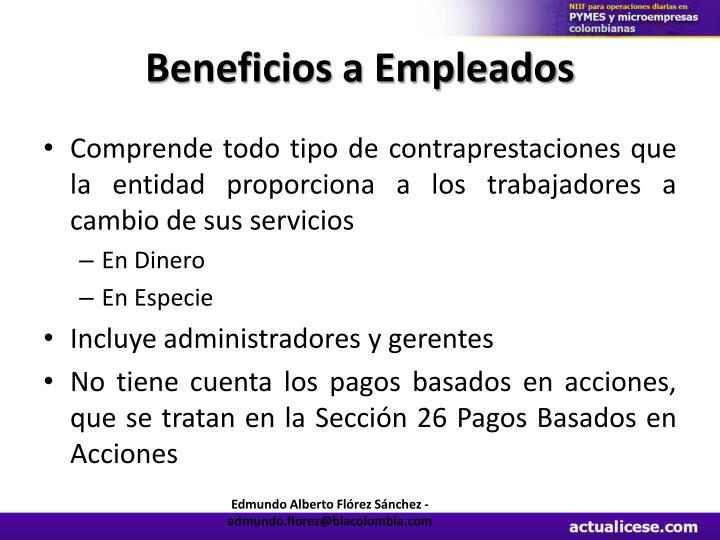Beneficios a Empleados