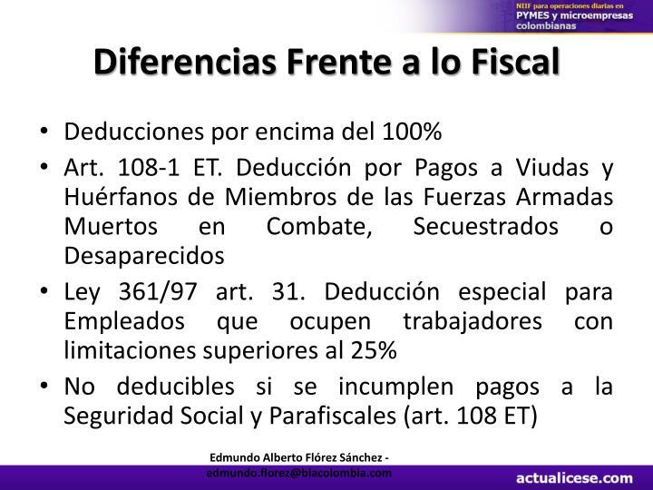 Diferencias Frente a lo Fiscal