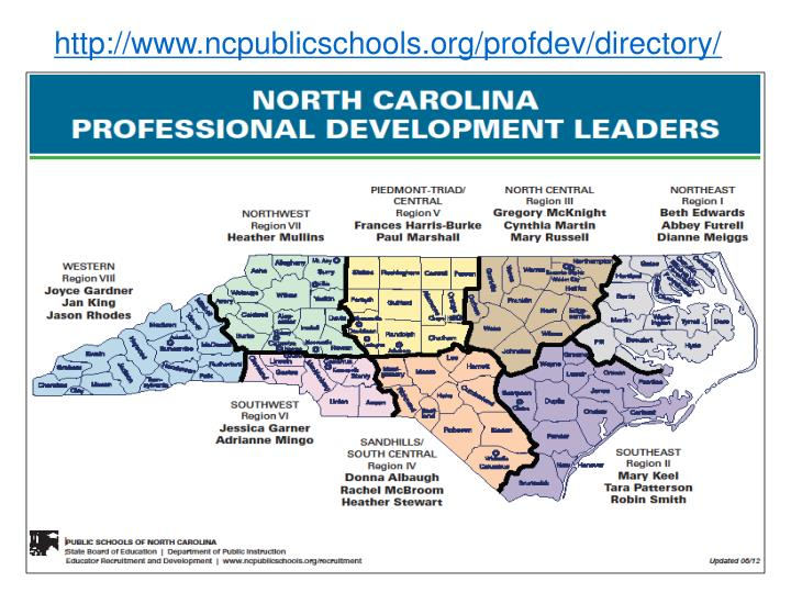 http://www.ncpublicschools.org/profdev/directory/