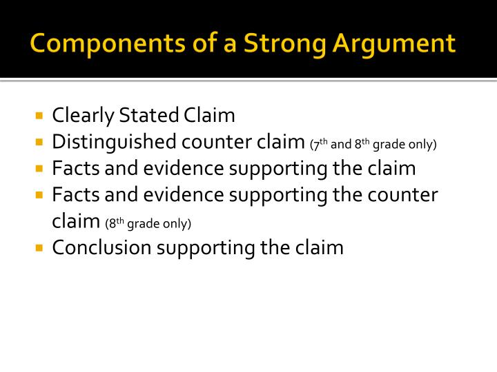 Components of a Strong Argument