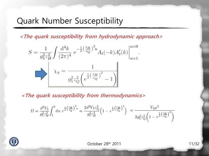 Quark Number Susceptibility