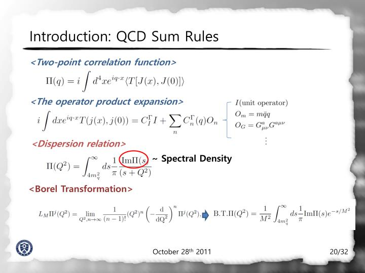Introduction: QCD Sum Rules