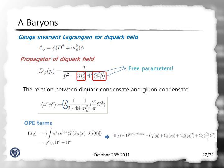 Λ Baryons