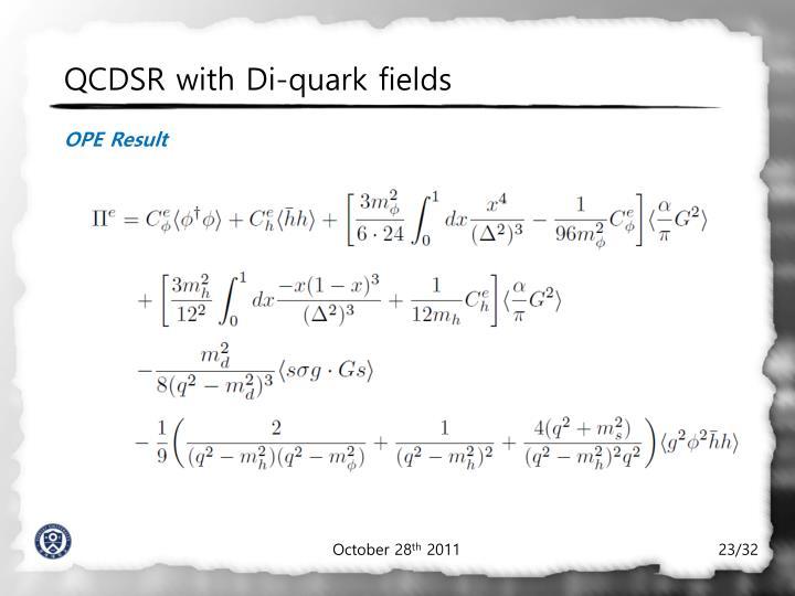 QCDSR with Di-quark