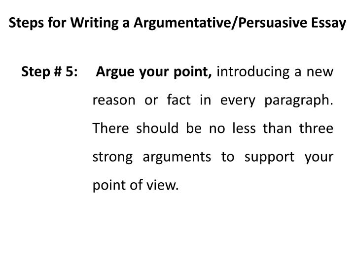 easy steps to write a persuasive essay Persuasive essay topics for a good essay any high school or college (scholarship) essay includes several important steps to obey: it states the topic's thesis, provides supporting arguments based on the reliable evidence, and concludes the discussed findings.