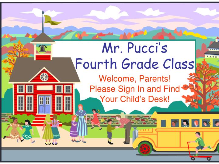 Mr pucci s fourth grade class