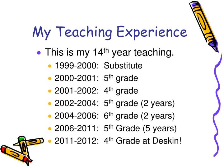 My Teaching Experience
