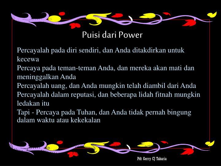 Puisi dari Power