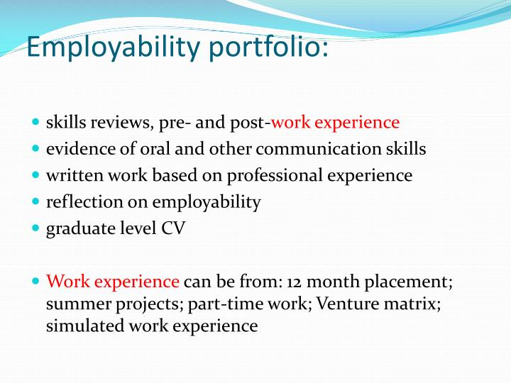 Employability portfolio: