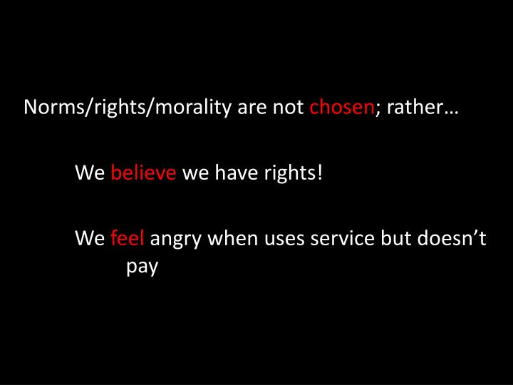 Norms/rights/morality are not