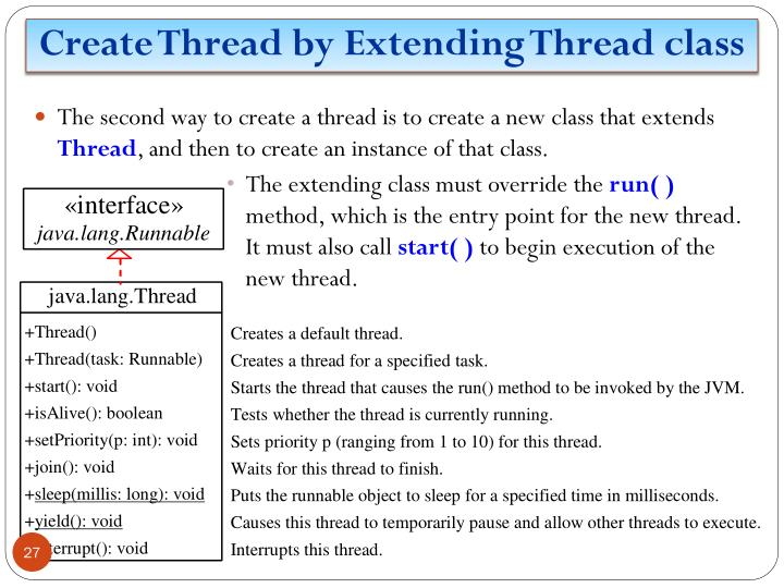 Create Thread by Extending